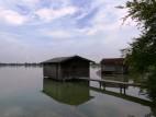 Bootssteg am Ufer des Kochelsee